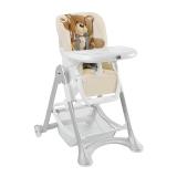 CAM多功能儿童餐椅便携可折叠宝宝吃饭餐椅可调档小米熊米色