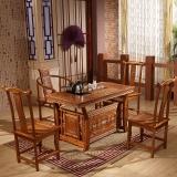 中伟实木茶台功夫茶桌中式茶几桌实木茶桌椅组合1300*680*740