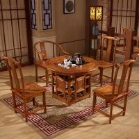 中伟实木茶桌椅组合功夫茶桌中式茶几桌实木茶台