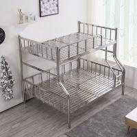 中伟不锈钢201双层床学生上下床宿舍床高低床铁床公寓床2000*1500