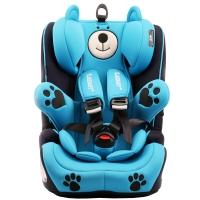瑞贝乐reebaby儿童安全座椅宝宝婴儿汽车用坐椅9个月-12岁钢架款车载安全座椅 蒙德拉小熊蓝色