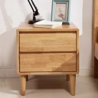 精邦 床头柜 双抽储物柜维多利亚实木床边柜WSC-011