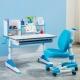溢彩年华 学生学习桌跑步脚书桌套餐  学生写字W脚桌椅 配书架YCX1295L+YCX3295L+YCX2003L蓝色