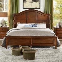 明昊 Minhow 床 美式实木床 单人双人床婚床大床 美式实木卧室双人床 卧室家具 1.8米单人双人床 601