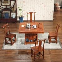 粤顺红木茶几 实木茶桌 花梨木桌椅五件套 木方桌YS1001