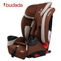 步达达(BUDADA)德国汽车儿童安全座椅isofix宝宝0-9个月-12岁 F8 秀雅棕