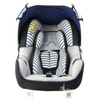 塞诺堡汽车安全提篮 法国进口提篮式儿童安全座椅 0-15个月婴儿新生儿宝宝车载摇篮 早安巴黎蓝