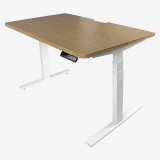 尼德(Need)双电机三段式可电动升降带记忆 站立式办公电脑学习桌子 TC1BW(120*76)-E1 柚木面白腿