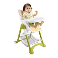 CAM多功能儿童餐椅便携可折叠宝宝吃饭餐椅可调档小玩熊绿色