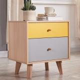 A家家具 床头柜 现代简约彩色板木家具 床边储物柜 BC032