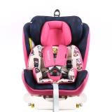 瑞贝乐reebaby汽车儿童安全座椅ISOFIX接口 0-4-6-12岁婴儿宝宝新生儿可躺安全座椅 卡通贝克熊 粉色