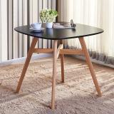 百思宜 北欧现代简约洽谈桌休闲小桌子圆桌小户型餐桌 黑色80*80cm(不含椅子)
