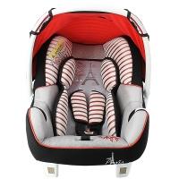 塞诺堡汽车安全提篮 法国进口提篮式儿童安全座椅 0-15个月婴儿新生儿宝宝车载摇篮 午安巴黎红