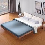 宜眠坊(ESF)床 布艺床 1.8米双人现代北欧白蜡木实木床 EC22