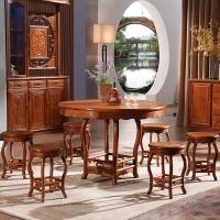 粤顺红木餐桌椅组合 中式实木餐台 花梨餐厅家具 Z22