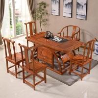 中伟实木茶桌椅组合功夫茶桌中式茶几桌实木茶台1600*800*720
