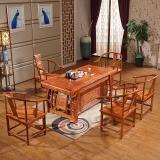 中伟实木茶台中式实木茶桌茶几桌茶艺泡茶桌椅组合1700*800*750mm