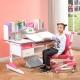 溢彩年华 学习桌儿童成长书桌 120CM学习桌椅套装 可升降书桌 学生写字桌YCX1112R+YCX3312R+YCX2003R粉色