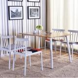 百思宜 北欧简易桌子实现代简约餐桌椅小户型休闲长方形桌子 桌腿白色120*80