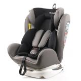 瑞贝乐reebaby汽车儿童安全座椅ISOFIX接口 0-4-6-12岁婴儿宝宝新生儿可躺安全座椅 潜力灰