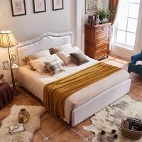 自然宝 床 美式实木双人床 卧室家具1.8米床 8142