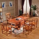 中伟实木茶桌椅组合功夫茶桌中式茶几桌实木茶台1800*900*760