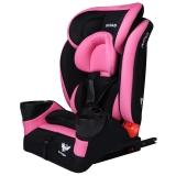 步达达(BUDADA)德国汽车儿童安全座椅isofix硬接口9个月-12岁 F8 粉色