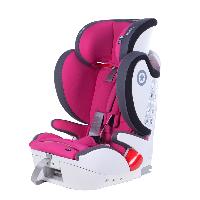 奇蒂Kiddy德国汽车儿童安全座椅全能者FIX 9个月到12岁ISOFIX+安全带通用 玫红色
