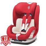 宝贝第一Babyfirst汽车儿童安全座椅9月-12岁 铠甲舰队尊享版ISOFIX3C认证 经典红