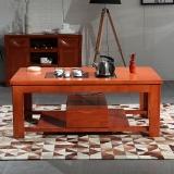 粤顺实木茶桌 橡胶木茶几 茶桌椅组合X003