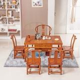 粤顺红木茶桌  实木茶几 花梨木明式茶桌椅组合YS1004