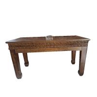 中伟餐桌餐台长方形餐桌饭桌全实木家具