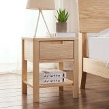 A家家具 床头柜 北欧实木卧室家具 床边储物柜 BA701