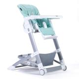 晨辉(CHBABY)儿童餐椅便携多功能皮质婴儿餐椅宝宝吃饭餐椅免安装宝宝餐椅可折叠 A505A 浅蓝