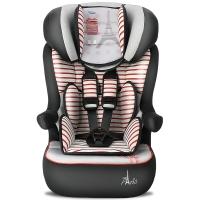塞诺堡儿童安全座椅 9个月-3-12岁 汽车车用宝宝安全座椅 法国原装进口 午安巴黎红(安全带固定)