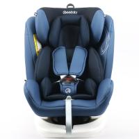 瑞贝乐reebaby360度旋转汽车儿童安全座椅ISOFIX接口 0-4-6-12岁婴儿宝宝新生儿可躺安全座椅 尼加拉蓝