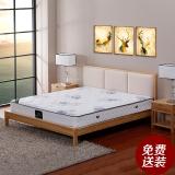 依丽兰实木床 时尚软包双人床 北美白蜡木框架床 北欧风格 2000*1500