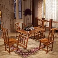 中伟实木茶桌椅组合功夫茶桌中式茶几桌实木茶台1200*660*660
