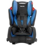 瑞凯威(RECARO)大黄蜂 适用9个月至12岁儿童汽车安全座椅3C认证赛车级防护 蓝黑色 德国进口