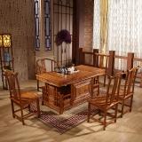 中伟实木茶台功夫茶桌中式茶几桌实木茶桌椅组合1600*800*760