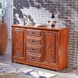 粤顺红木餐边柜 实木沙发边柜 中式餐厅花梨木储物柜 G41