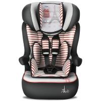 塞诺堡汽车安全座椅isofix 9个月-12岁婴儿宝宝儿童车载安全座椅 一体式isofix硬接口 午安巴黎红