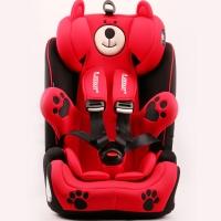 瑞贝乐reebaby儿童安全座椅宝宝婴儿汽车用坐椅9个月-12岁钢架款车载安全座椅 蒙德拉小熊红色