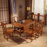 中伟实木茶桌椅组合实木茶台功夫茶桌中式茶几桌1480*780*720