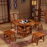 中伟实木茶桌功夫茶桌中式茶几桌实木茶台桌椅组合