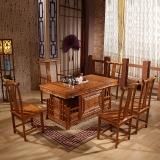 中伟实木茶桌功夫茶桌中式茶几桌实木茶台桌椅组合1600*800*760