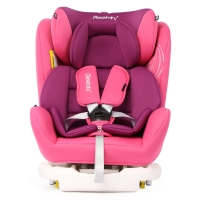 瑞贝乐reebaby汽车儿童安全座椅ISOFIX接口 0-4-6-12岁婴儿宝宝新生儿可躺安全座椅甜蜜粉