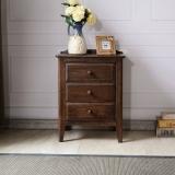 华谊(HUAYI)床头柜 橡木床头桌简约床边柜子  7C6503102