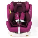 瑞贝乐reebaby汽车儿童安全座椅ISOFIX接口 0-4-6-12岁婴儿宝宝新生儿可躺安全座椅 艺术紫