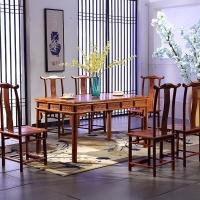 粤顺红木餐桌 实木餐桌椅组合 花梨木长方形饭桌Z31